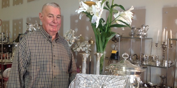 Greg Cambie has been selling his collection of mostly silver and crystal at the Rotary fair for about 30 years.