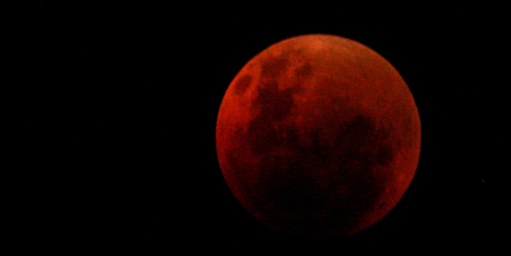 A lunar eclipse photographed in Hawkes Bay in 2007.