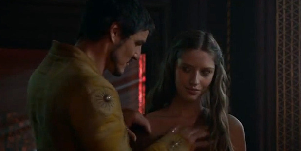 Oberyn, aka The Red Viper, selects a prostitute to join him in bed with his wife during the opening episode of the new season of Game of Thrones. Photo/YouTube