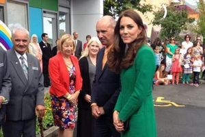 The Duchess arrives at Rainbow Place. Photo / Twitter / Governor General
