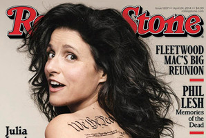 Julia Louis-Dreyfus on the cover of the latest Rolling Stone magazine.