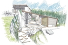 An artist's impression of the sustainable-education centre.