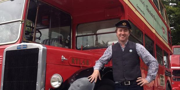 Declan Scott, director, SHE Chocolat with the company's chocolate bus.