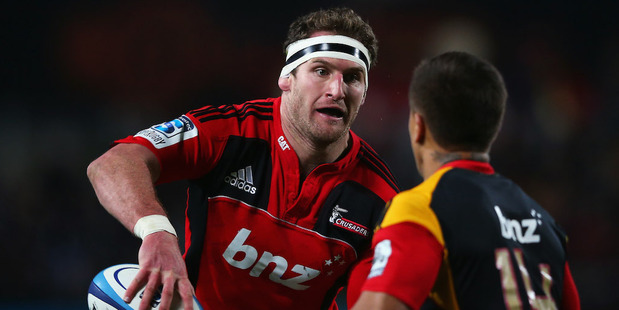 The Crusaders use Kieran Read like an extra back. Photo / Getty Images