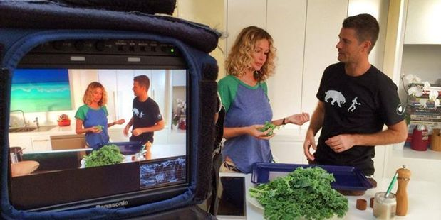 Nicky Robinson and Pete Evans celebrated their engagement with soup. Photo/Facebook.