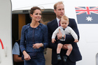 The Duke and Duchess along with Prince George farewell New Zealand. Photo / Mark Mitchell