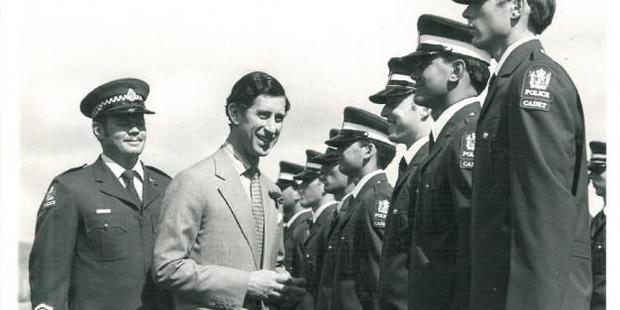 Prince Charles at the opening ceremony of the college on April 1, 1981.