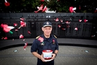 Rear Admiral Jack Steer will be at Devonport Wharf this morning taking donations from the public in return for a poppy. Photo / Sarah Ivey