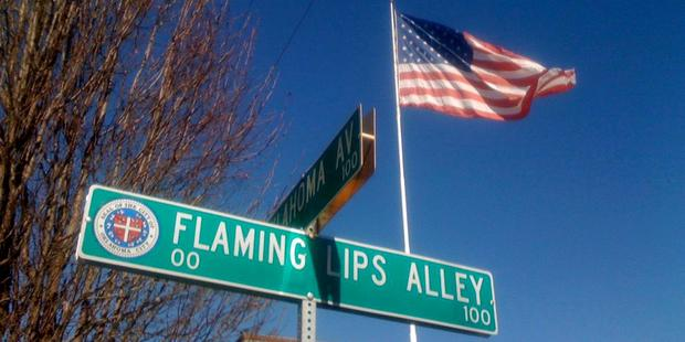 Oklahoma City's Flaming Lips Alley honours local boy Wayne Coyne and his merry band of art-pop freaks. Photo / Creative Commons image by Flickr user Wesley Fryer