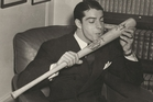 Joe DiMaggio swung a big bat but didn't go parading it around.
