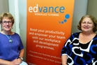 Edvance programme manager Lynne Whitaker and general manager Lynda Rewita.
