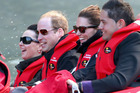 Catherine Duchess of Cambridge and Prince William, Duke of Cambridge travel on the Shotover Jet. Photo / Getty Images