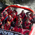 Prince William, Duke of Cambridge and Catherine, Duchess of Cambridge travel on the Shotover Jet on the Shotover River in Queenstown, New Zealand. Photo / Getty Images