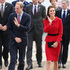 Prince William, Duke of Cambridge and Catherine, Duchess of Cambridge arrive at Christchurch City Council Buildings in Christchurch. Photo / Getty Images