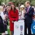 Catherine, Duchess of Cambridge and Prince William Duke of Cambridge with the Cricket World Cup in Latimer Square Gardens in Christchurch. Photo / Getty Images