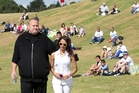 Kim Dotcom and wife Mona hosted more than 700 Internet Party members at their Coatesville mansion yesterday. Photo / Richard Robinson