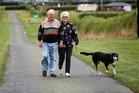 Glen Williamson enjoys a walk with his wife, Shirley, on their Taranaki farm after the heart surgery. Photo / Mark Dwyer