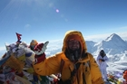 Dean Staples on the summit of Everest for the ninth time.