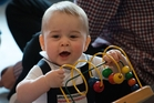 The photograph taken by Marty Melville of Prince George during the royal playdate.