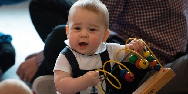 Prince George has been gifted a Hairy Maclary book by the Prime Minister's wife, Bronagh Key. Photo / AFP
