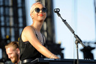 Alisa Xayalith performs with The Naked and the Famous at the 2014 Coachella Music and Arts Festival. Photo/AP