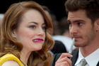Emma Stone and Andrew Garfield, the stars of The Amazing Spider-Man 2: Rise of Electro. Photo/AP