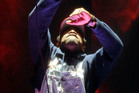 Andre 3000 of hip-hop group Outkast performs during their headlining set at Coachella. Photo/AP