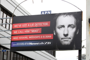 Newstalk ZB's Mike Hosking's breakfast show was up nearly one per cent nationally in the latest ratings.