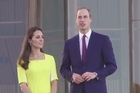 Britain's Prince William and wife Catherine charm a welcoming crowd at the Sydney Opera House as they begin the Australian leg of a tour Down Under.