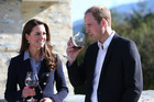 Prince William, Duke of Cambridge and Catherine, Duchess of Cambridge visit Amsfield Winery in Queenstown during their royal tour of New Zealand. Photo / AFP