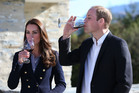Kate and William's sampling of a range of wines during a visit to Amisfield. Photo / AFP