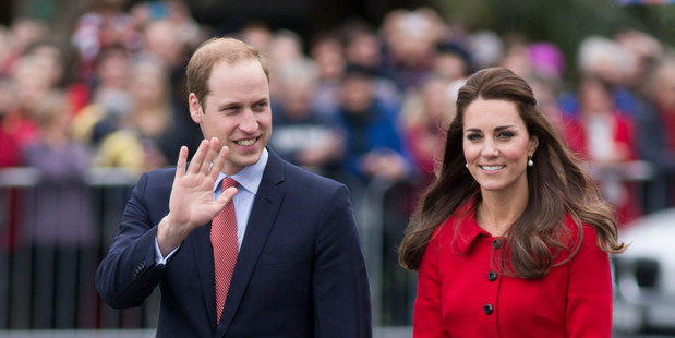 The Duke and Duchess of Cambridge in Christchurch today. Photo / Greg Bowker