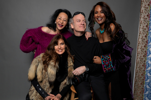 Models China Machado, Carol Alt and Beverly Johnson with About Face director Timothy Greenfield-Sanders, photographed at the 2012 Sundance Film Festival. Picture / AP Images