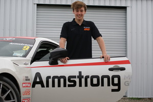 Christchurch 13-year-old Marcus Armstrong is the newest driver in the Toyota Finance 86 Championship. Pictures / David Linklater