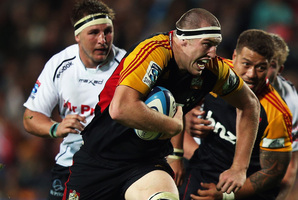 The Crusaders score most of their tries from first phase ball. Photo / Getty Images