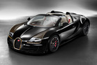 The Bugatti  Legends limited edition runs of the Veyron supercar includes this, US$3m Black Bess that has big, gold, ridiculous eyelashes.