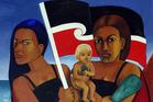 2 Hina Supa Heroes by Robyn Kahukiwa (detail).