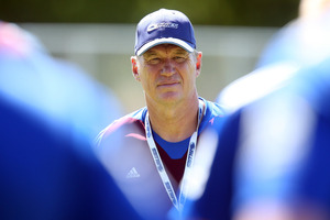 Blue coach Sir John Kirwan. Photo / Jason Oxenham