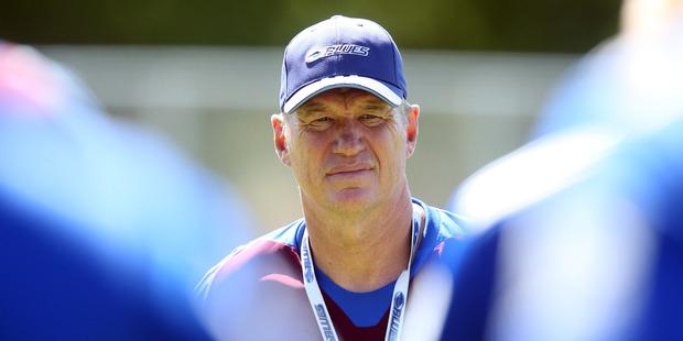 Blue coach Sir John Kirwan. Photo / Jason Oxenham