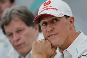 Michael Schumacher is showing small signs of progress out of his medically induced coma. Photo / AP