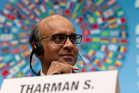 Chairman of the IMF's steering committee Tharman Shanmugaratnam. Photo / AP