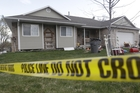 Pleasant Grove Police police tape is shown in front of the scene where seven infant bodies were discovered. Photo / AP