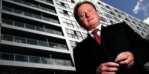 Martin Dunn from City Sales says rules stopping so-called 'shoebox' apartments should be relaxed.  File photo / Chris Skelton.