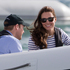 The Duke and Duchess of Cambridge aboard a sealegs boat on the Waitemata Harbour during their visit to Auckland. Kate wears Rayban sunglasses. Photo / Greg Bowker