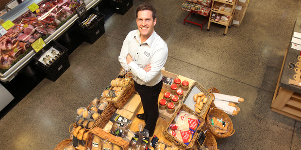 Nosh chief executive Hayden Syers pictured at the Nosh supermarket on Dominion Rd, Auckland.