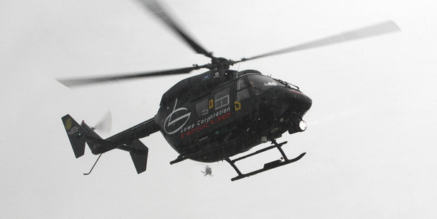 The girl was transferred to Hawke's Bay Hospital by the Lowe Corporation rescue helicopter for surgery after being shot with an air rifle. Photo / APN