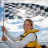 HBT140886-24 Billie Swayn 11 from Napier with the finish flag pictured as race one finishes.