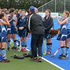 HBT140890-02 Napier Girls team talk at half time. Photo: Glenn Taylor