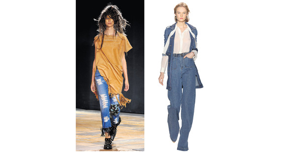 Designers are going beyond their own-brand jeans, taking denim into coats and sweatshirts. Photo / AP Images.