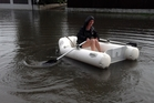 STREET LAKE: Maleme St was closed due to flooding.170414JB13BOP